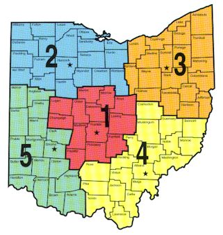 Ohio Lake Maps - Listed By Region