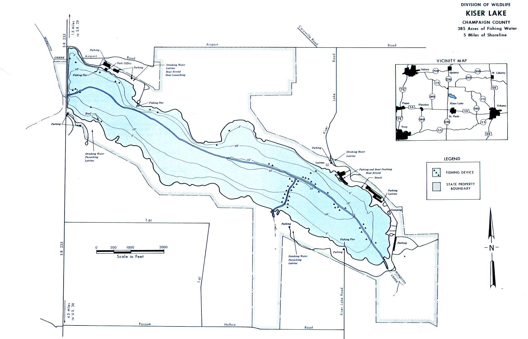 Kiser Lake Fishing Map | Central Ohio Fishing
