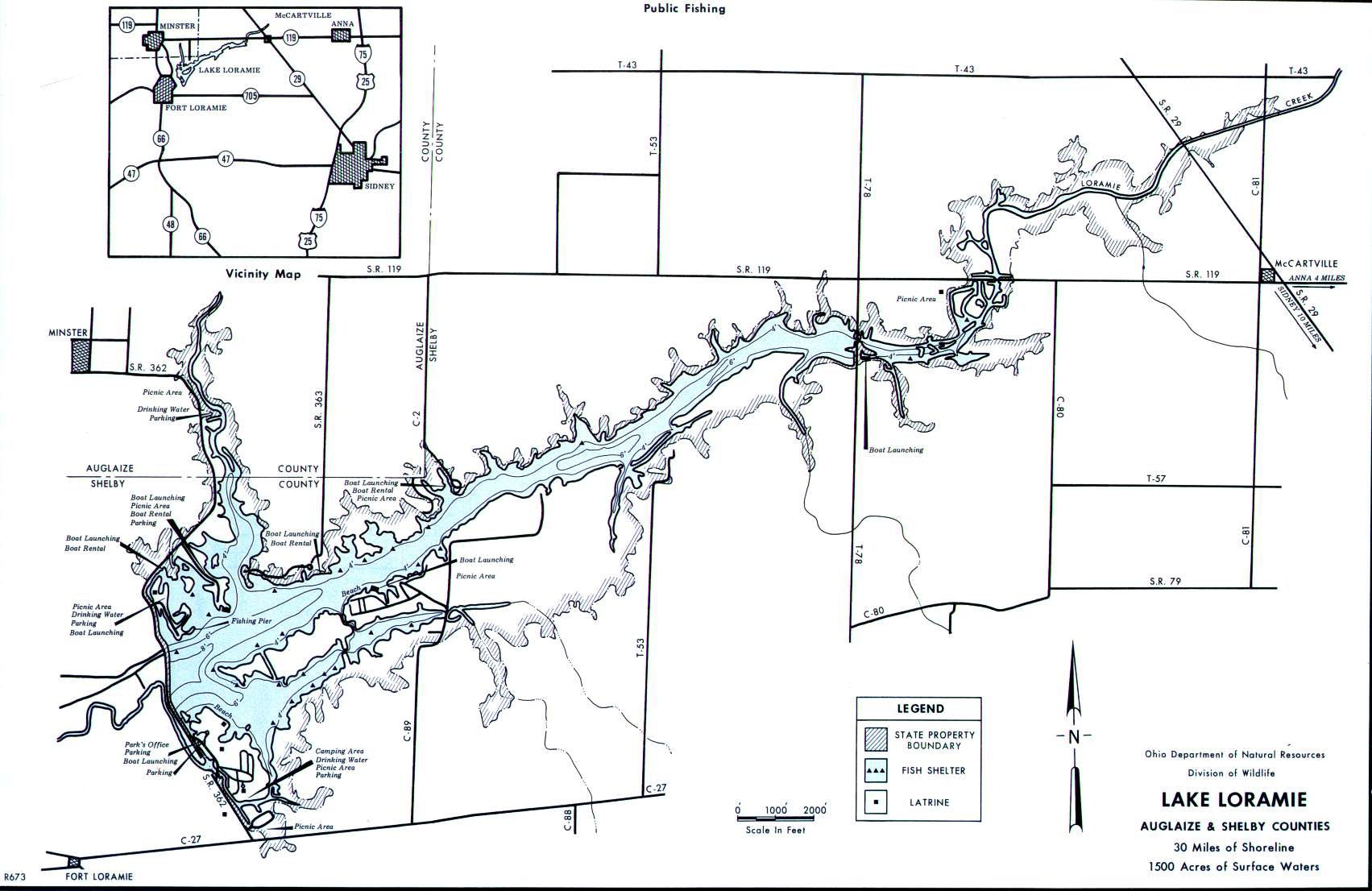 Lake Loramie Fishing Map | Southwest Ohio