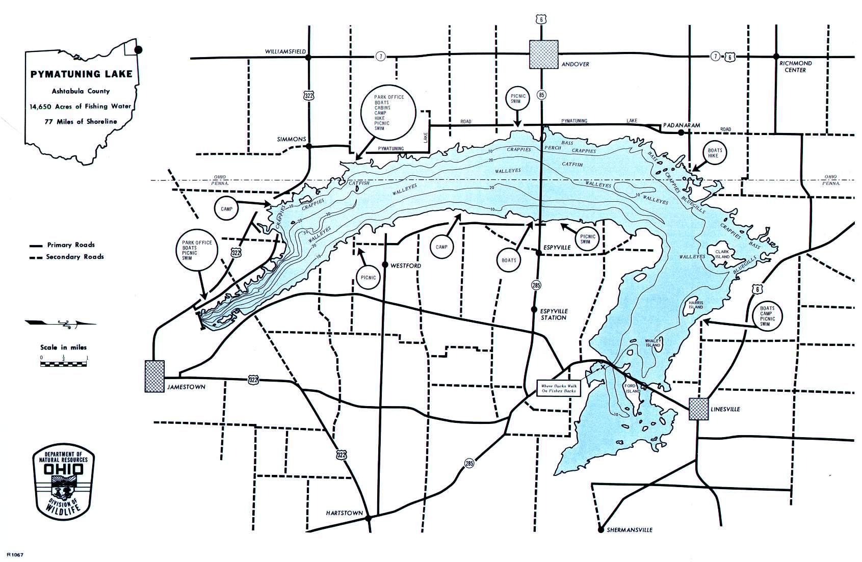 Pymatuning Lake Fishing Map | Northeast Ohio Fishing